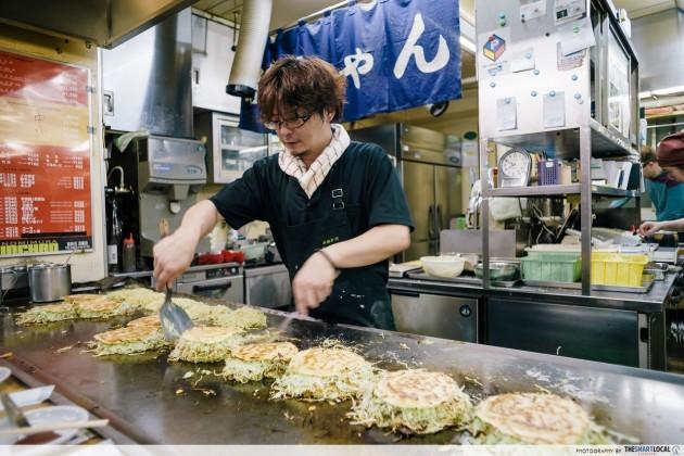 Hiroshimayaki Okonomiyaki is savoury pancake delicacy in Hiroshima.