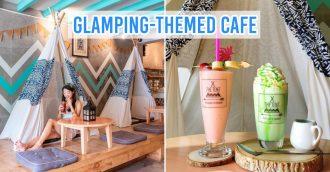 Phuket cafes - glamping-themed