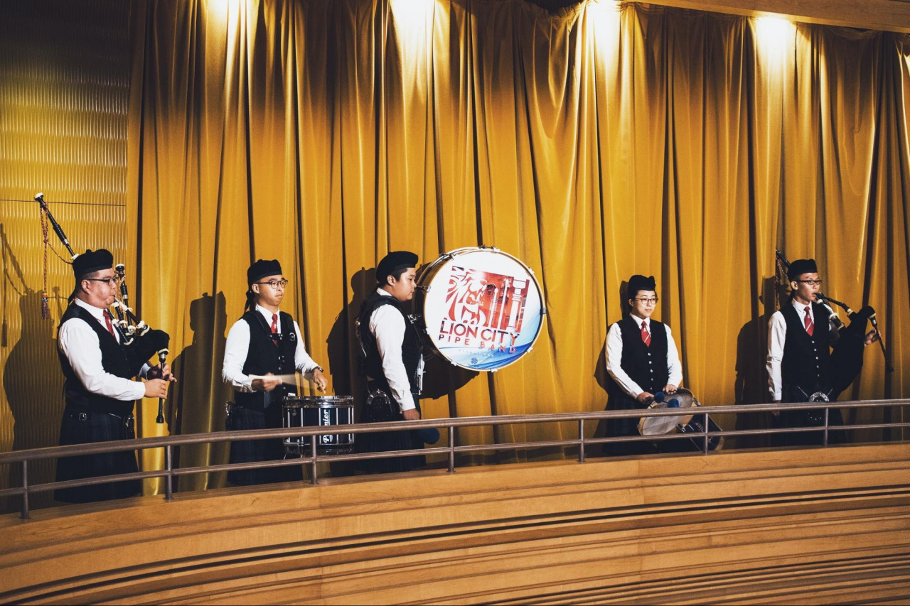 lion city pipe band performance