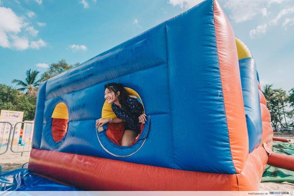 inflatable maze sentosa funfest 2019