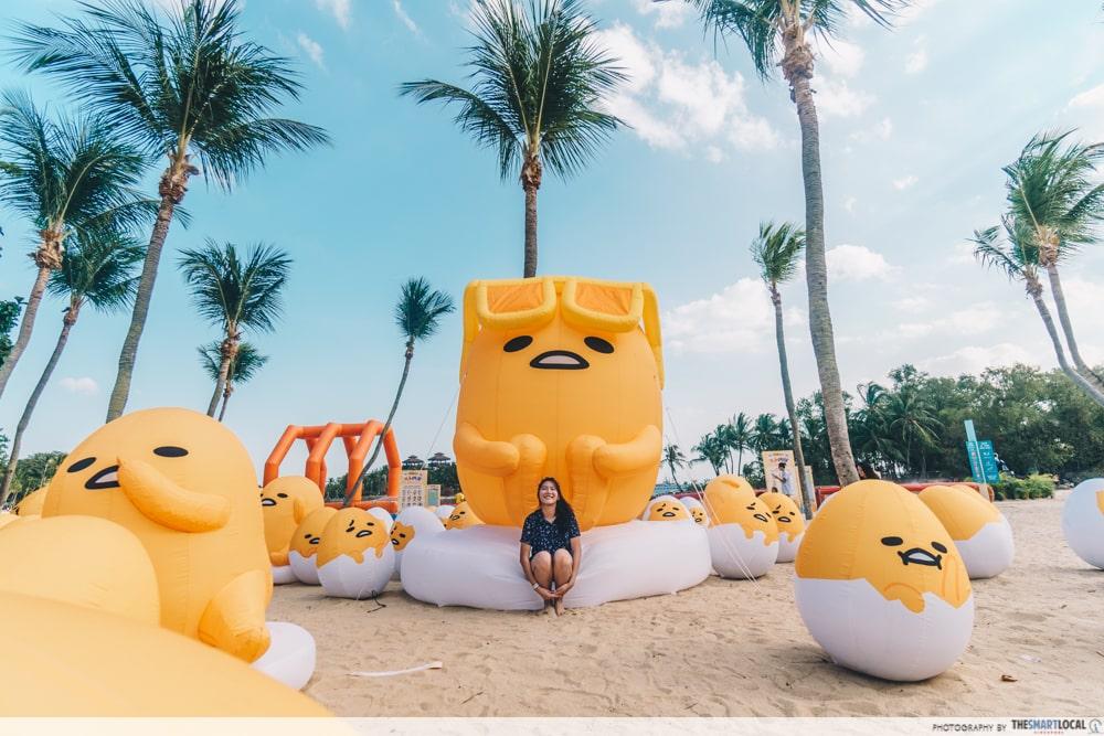 gudetama inflatables sentosa funfest 2019