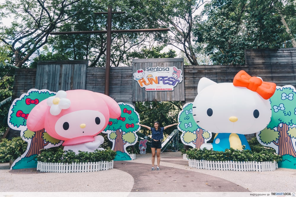 sentosa funfest 2019 with sanrio characters