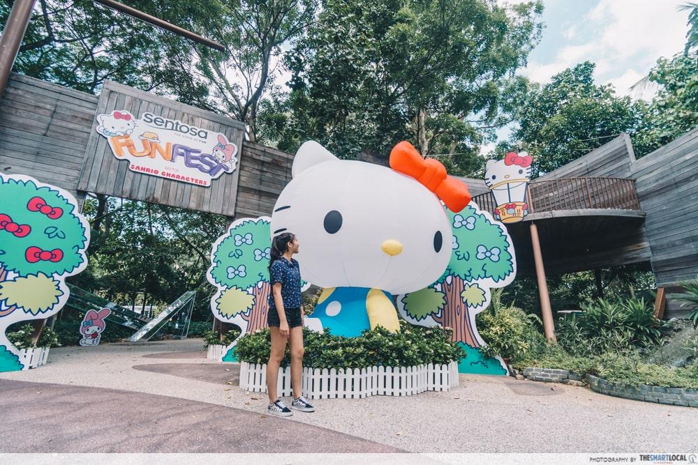 hello kitty inflatable sentosa funfest 2019