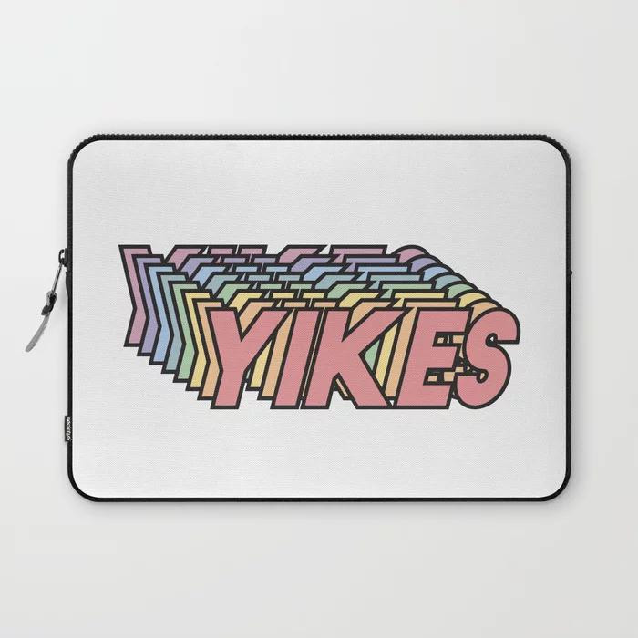 Society6 yikes laptop case