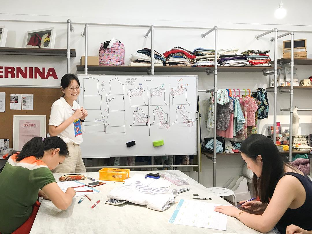 skills future claimable fashion courses classes dress knitting sewing dress cheongsam fashion makerspace