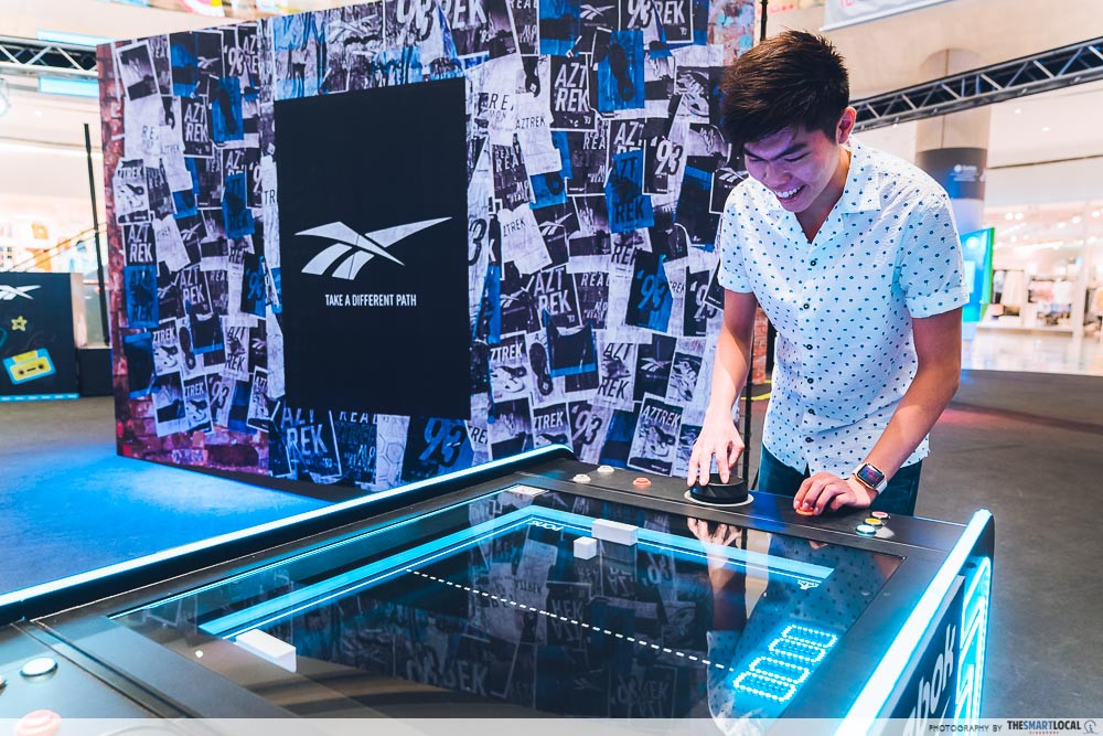 reebok pop up event air hockey