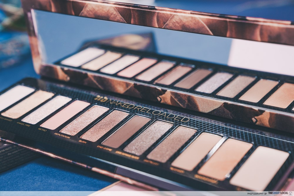 Close up of Urban Decay's Naked Reloaded Eyeshadow Palette