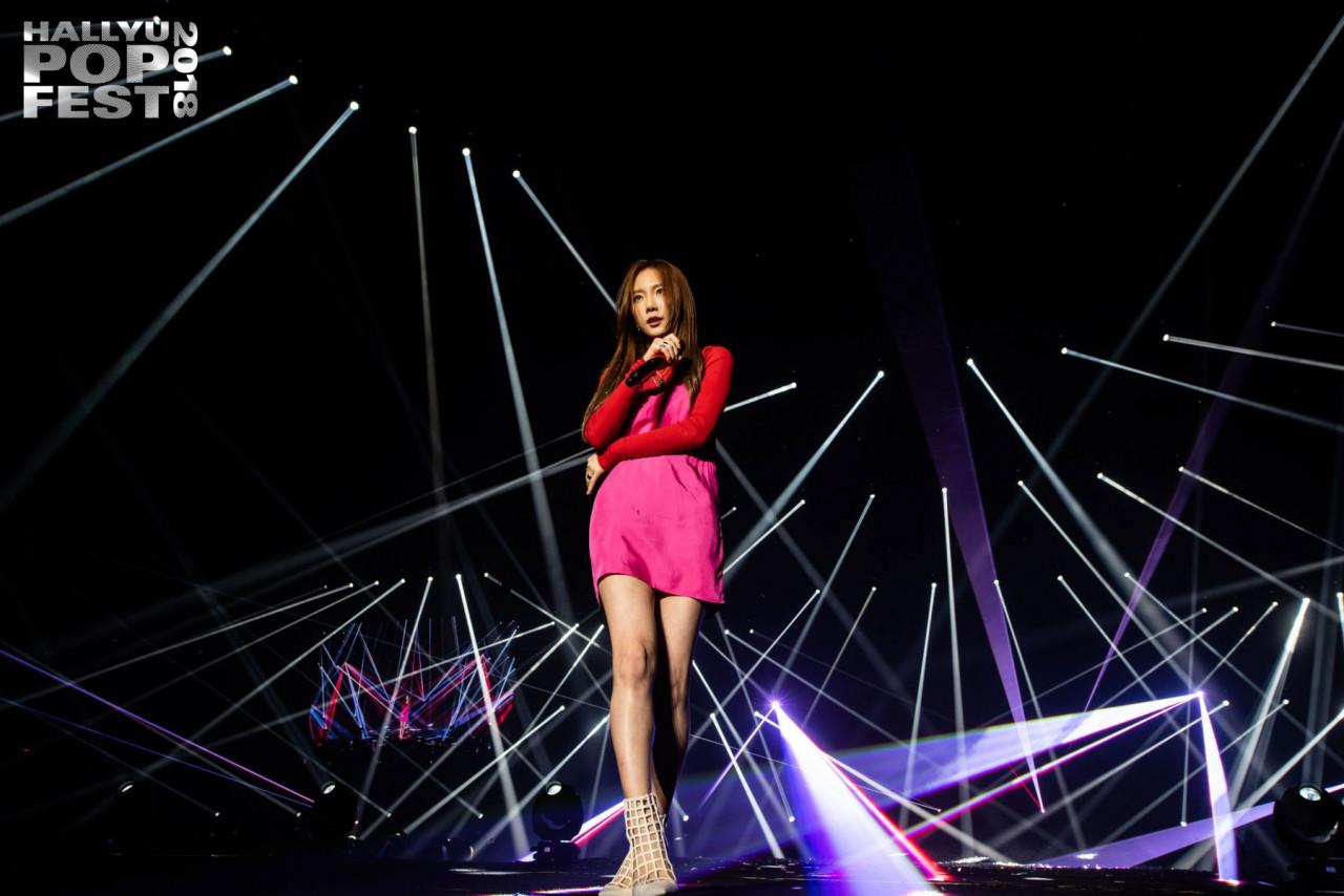 taeyeon music festival hallyupopfest