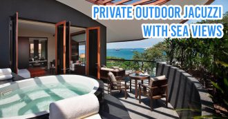 hotels with private jacuzzi hot tub staycations capella singapore