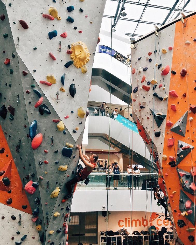 rock climbing bouldering gym singapore beginners pro indoor rock climbing climb central