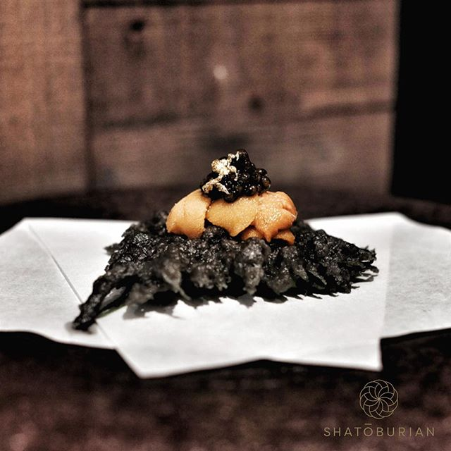 shatoburian wagyu yakiniku don new restaurant bar singapore april 2019 sea urchin on charcoal tempura