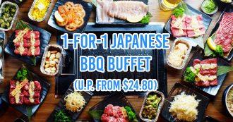 1 for 1 BBQ buffet - April 2019 lobangs