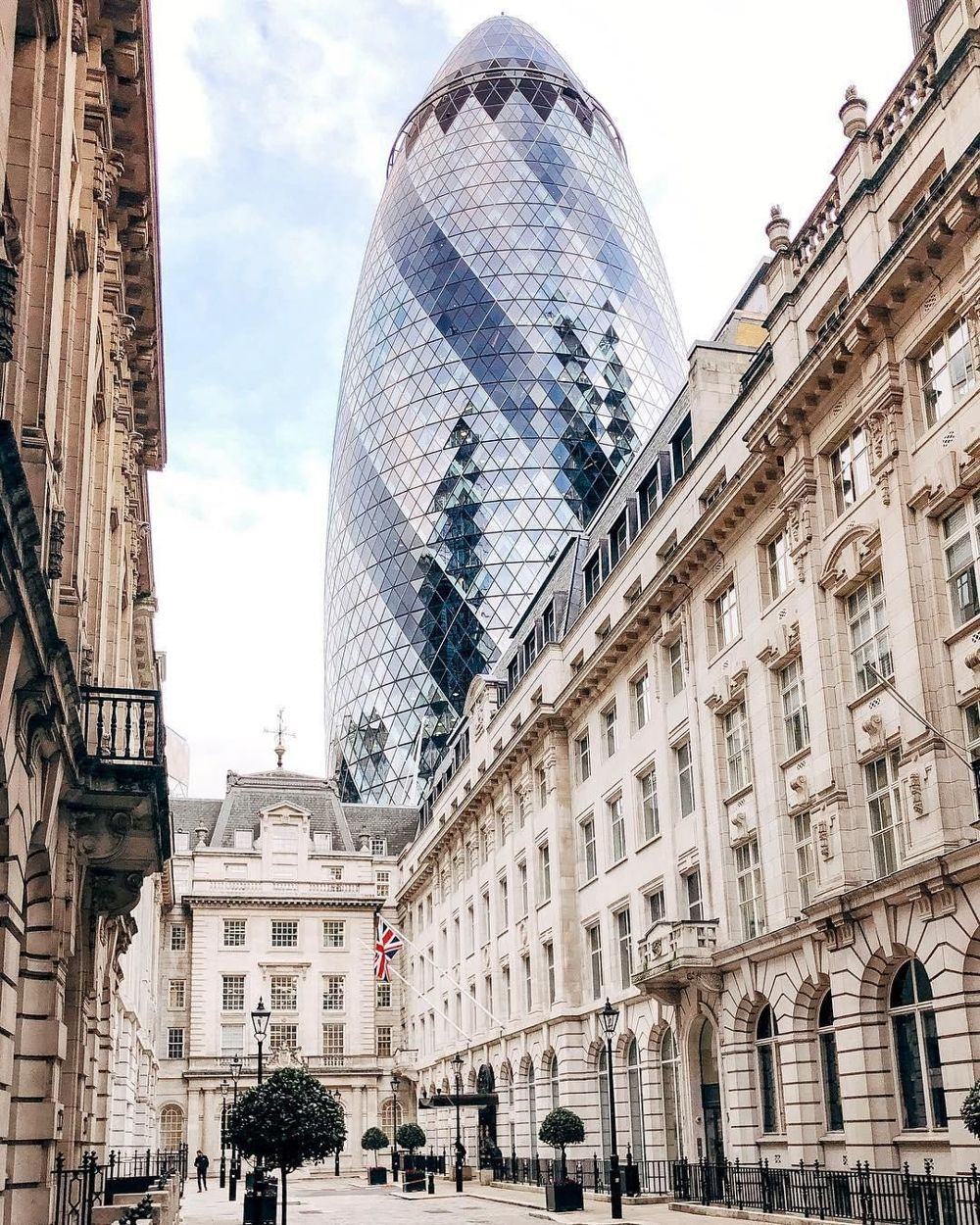 View of The Gherkin in London