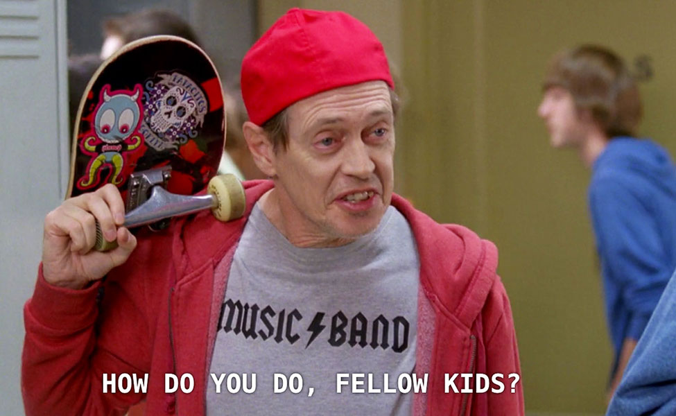Steve Buscemi 30 Rock How Do You Do Fellow Kids Meme