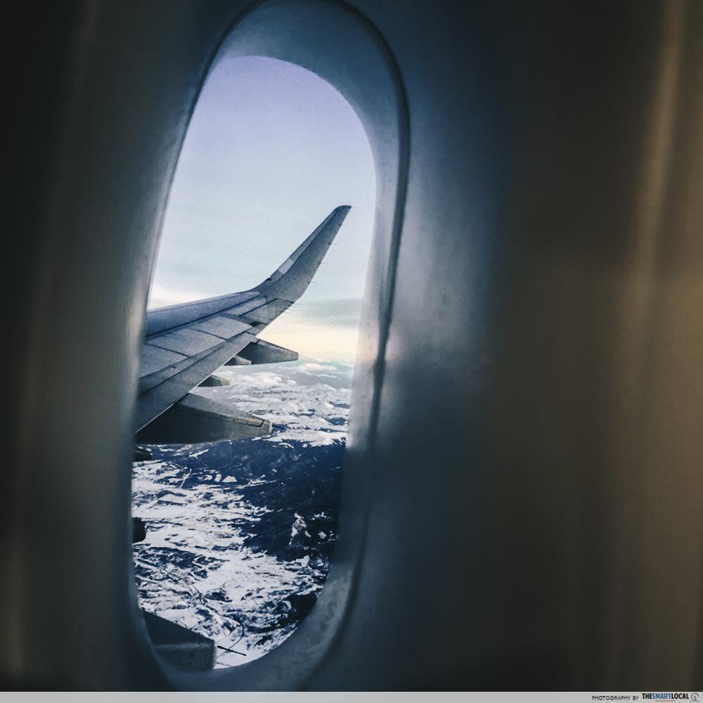 Plane window shot