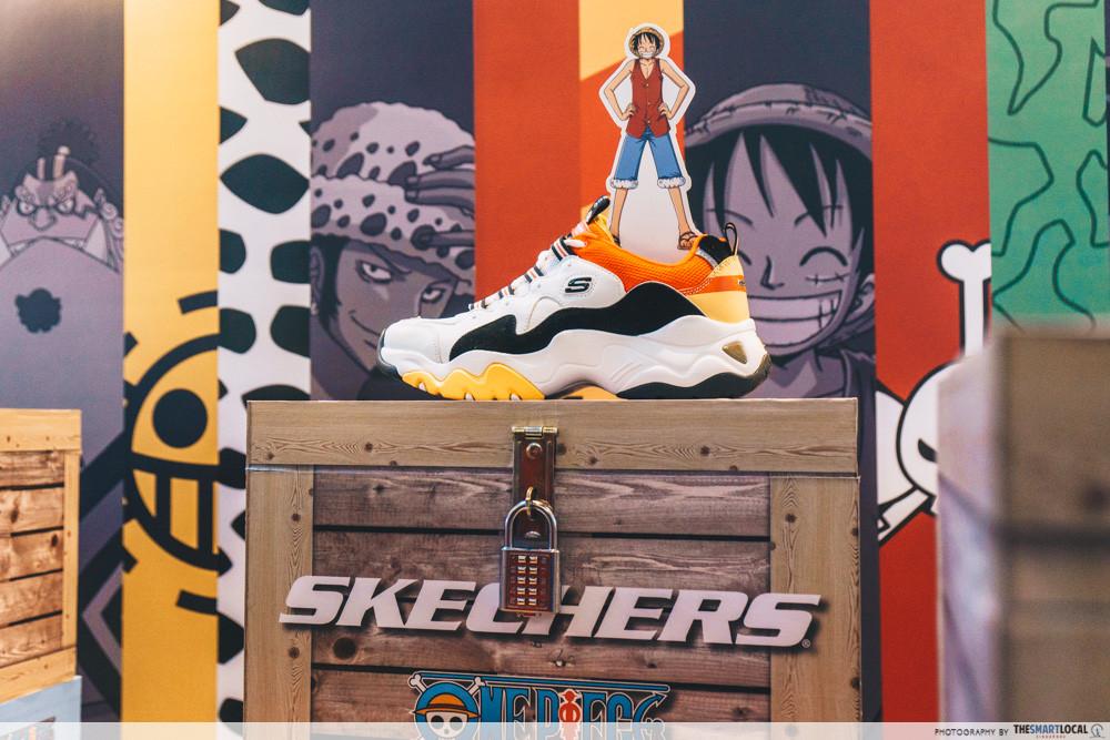 free one piece x skechers sneakers