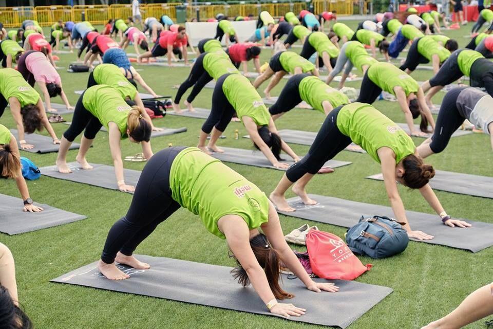 Yoga session - Meiji Run 2019