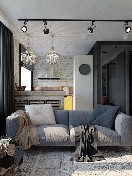 Living room track lights