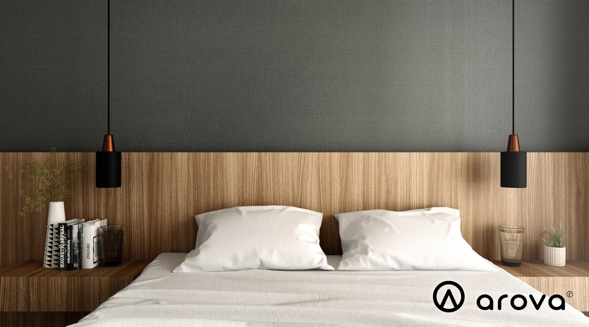 Textured laminates on bedframe