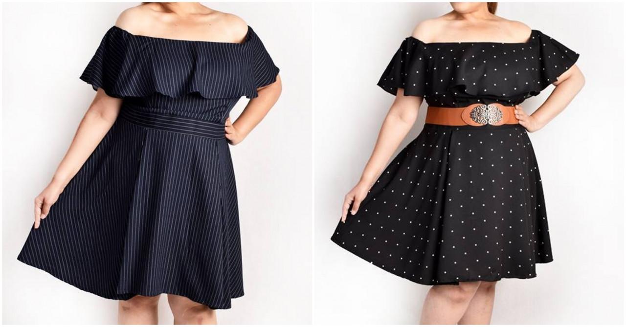 kaylene Off Shoulder Ruffles Empire Cut Dress