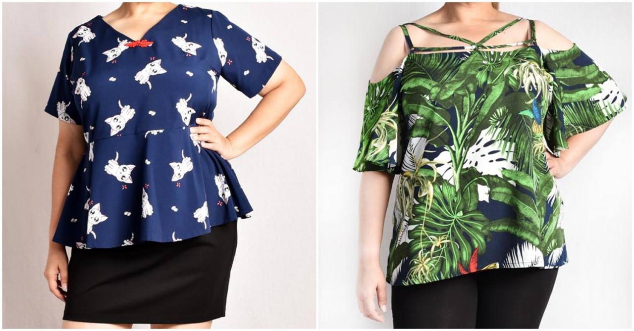 Kaylene fun print blouse