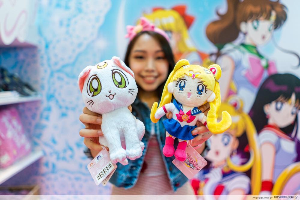 sailor moon 313 somerset pop up store event town luna plush toy merchandise