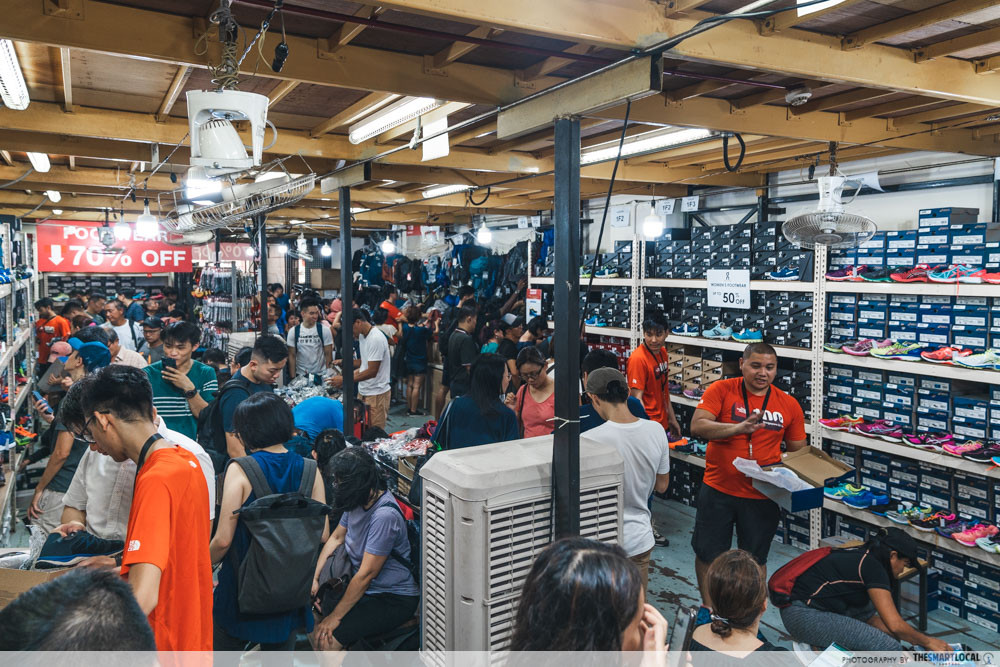 outdoor venture warehouse sale east singapore crowd