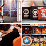 Photo collage of Avengers Endgame pop-up in R&F mall