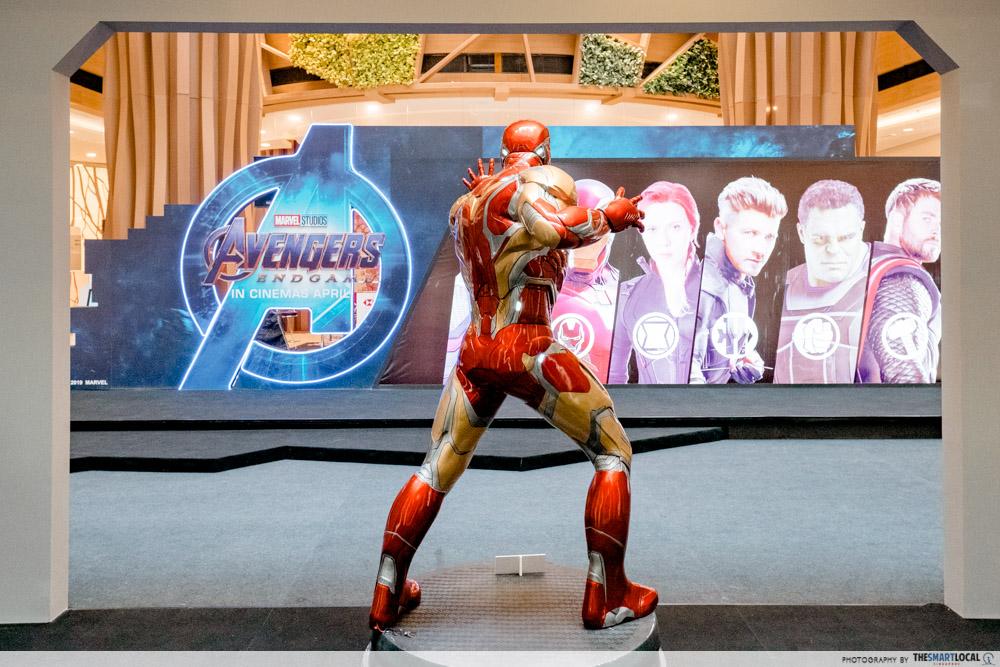 life-sized Ironman figurine