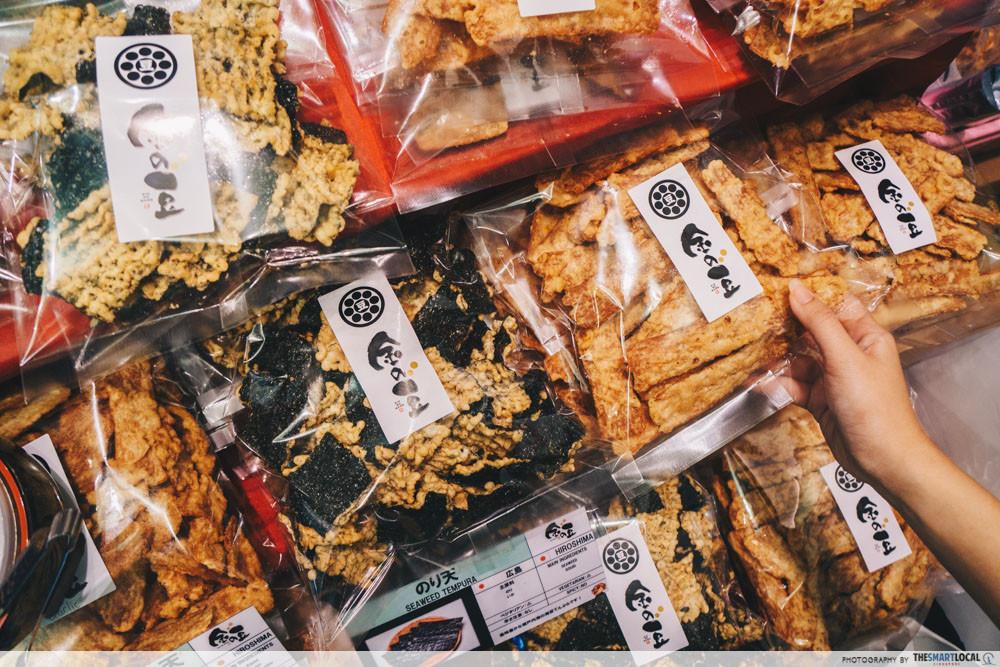 Matsuri's dried seafood snacks