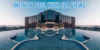 sentosa village hotel infinity pool sea view luxury