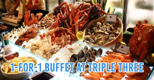 1-for-1 buffet promo at Triple Three