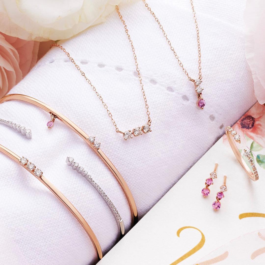 pink gem and diamond jewellery from Goldheart