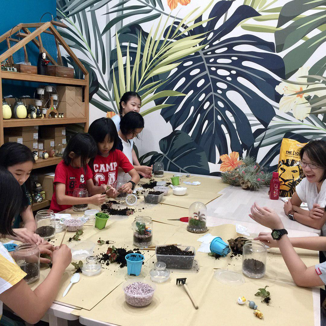 Terrarium making at Love In A Bottle