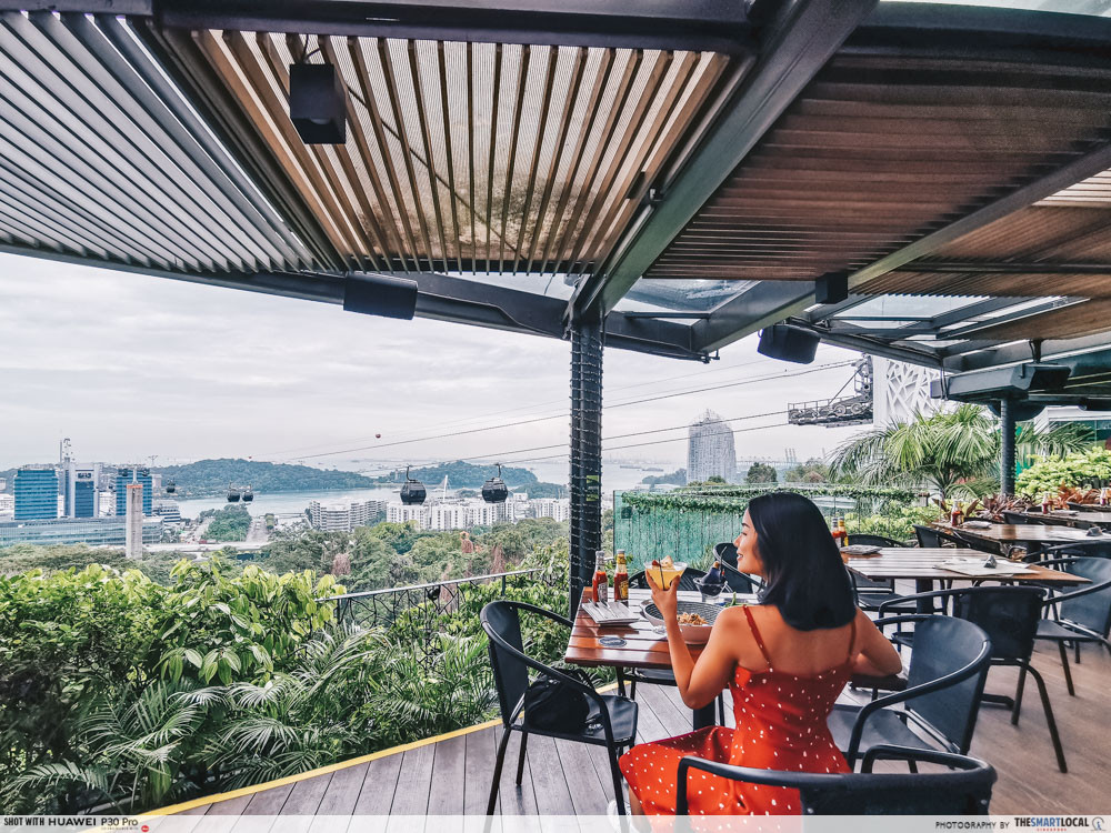 waterfront cafes singapore scenic alfresco dining dusk restaurant at faber peak