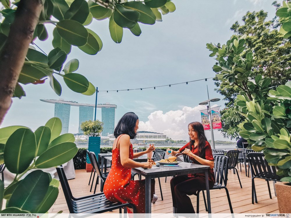 waterfront cafes singapore scenic alfresco dining overeasy