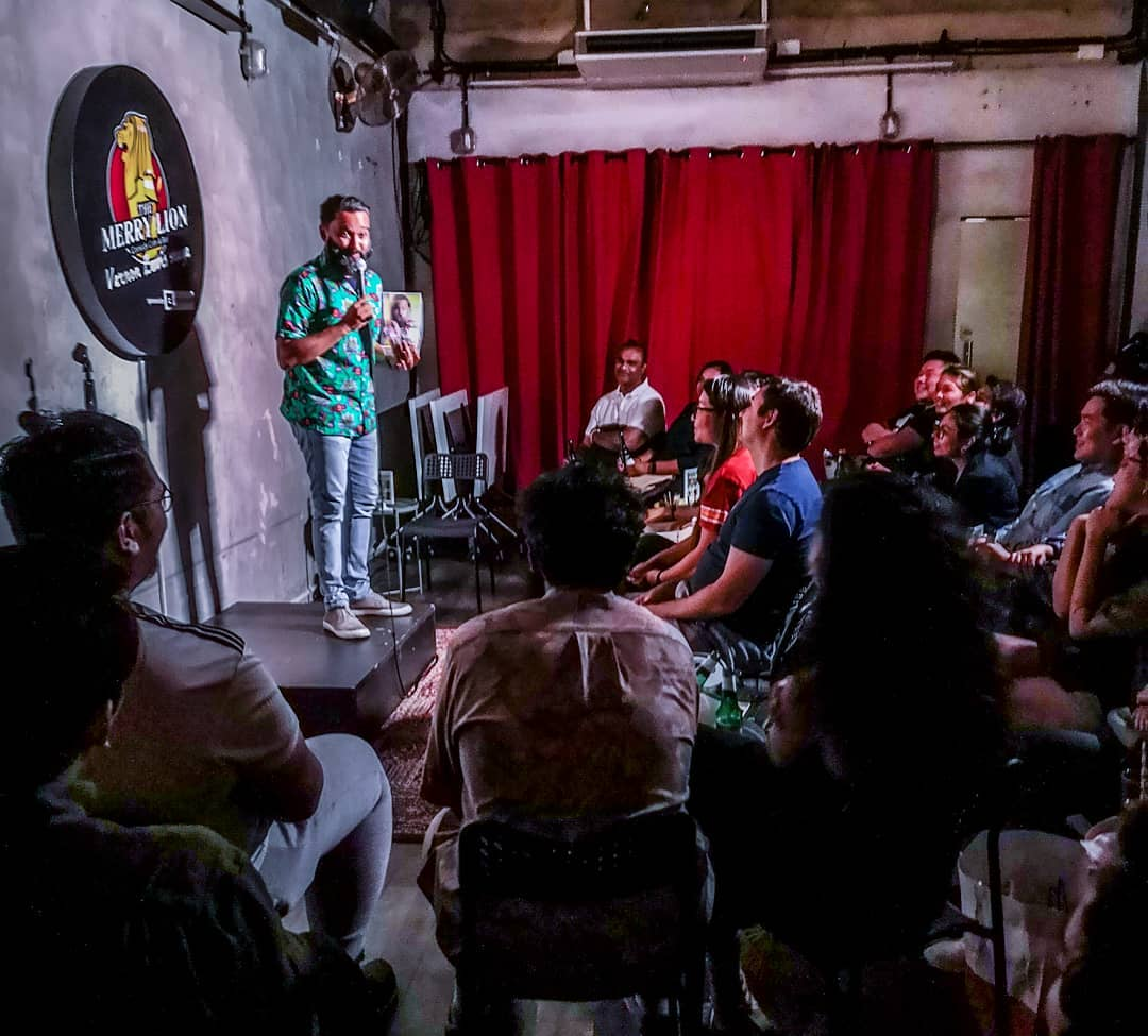 regular comedy shows in singapore the merry lion comedy cafe and bar