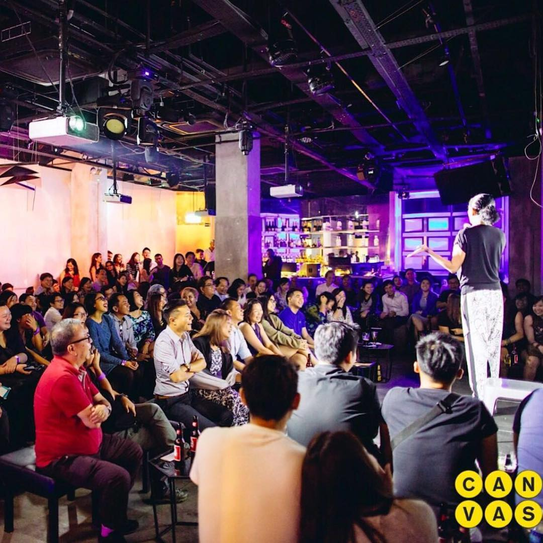 regular comedy shows in singapore comedy at canvas kumar