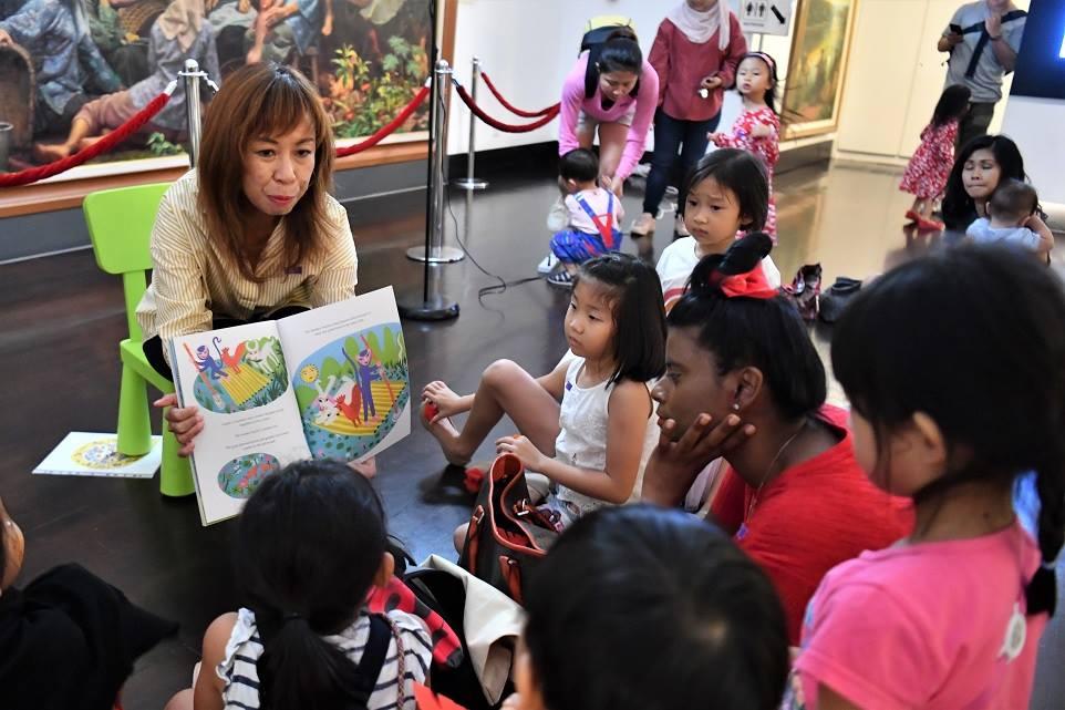 Children at storytelling session at Wan Qing Dumpling Festival