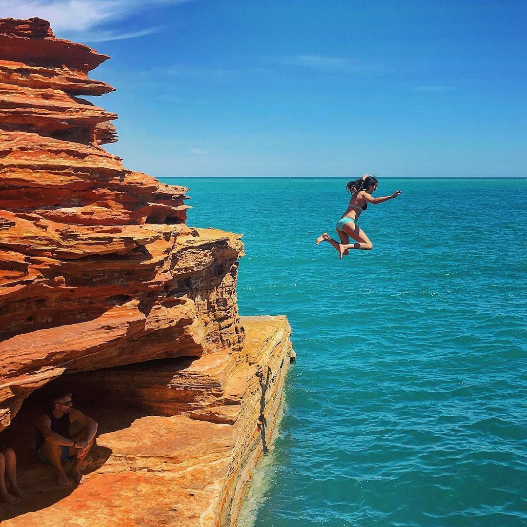 Gantheaume Point - cliff diving