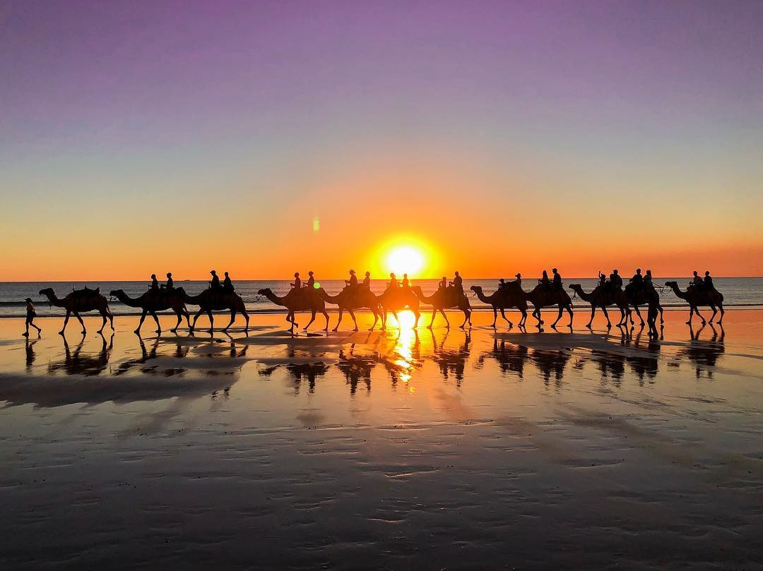 Cable Beach - camel riding