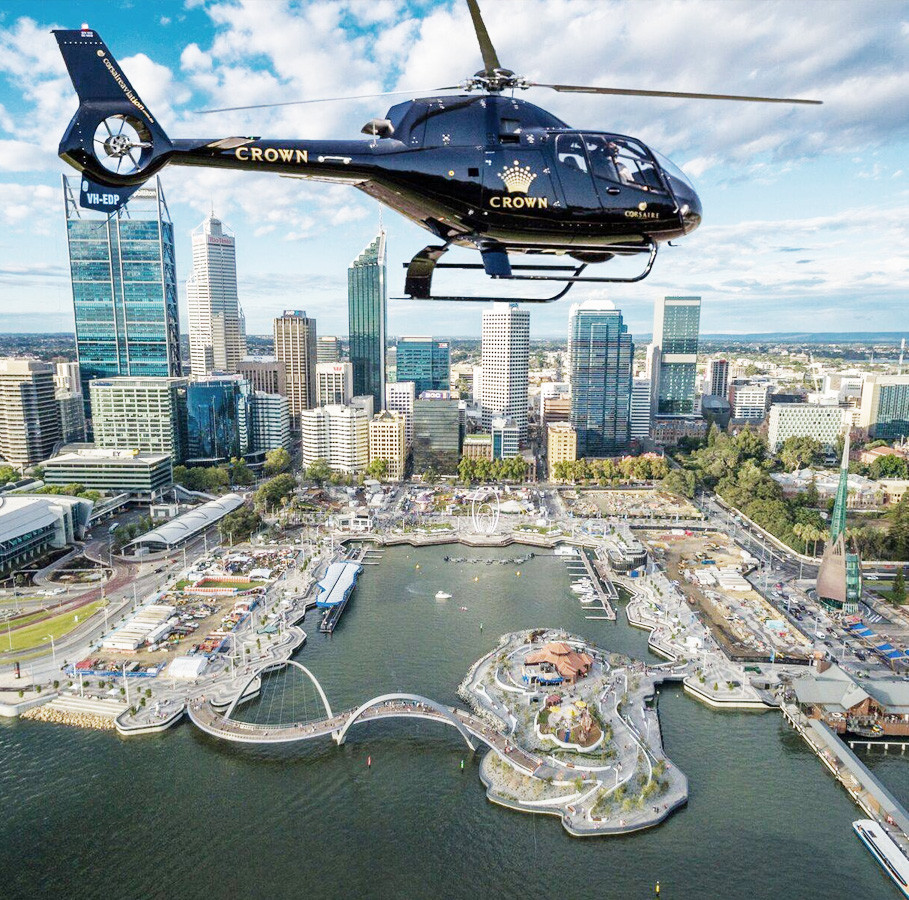 Scenic helicopter ride over Perth