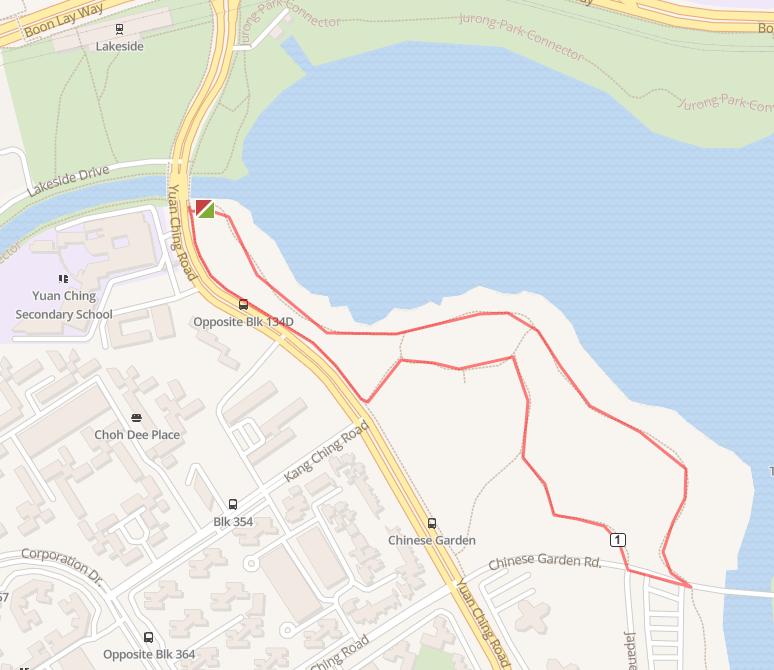 Jurong Lake Gardens map