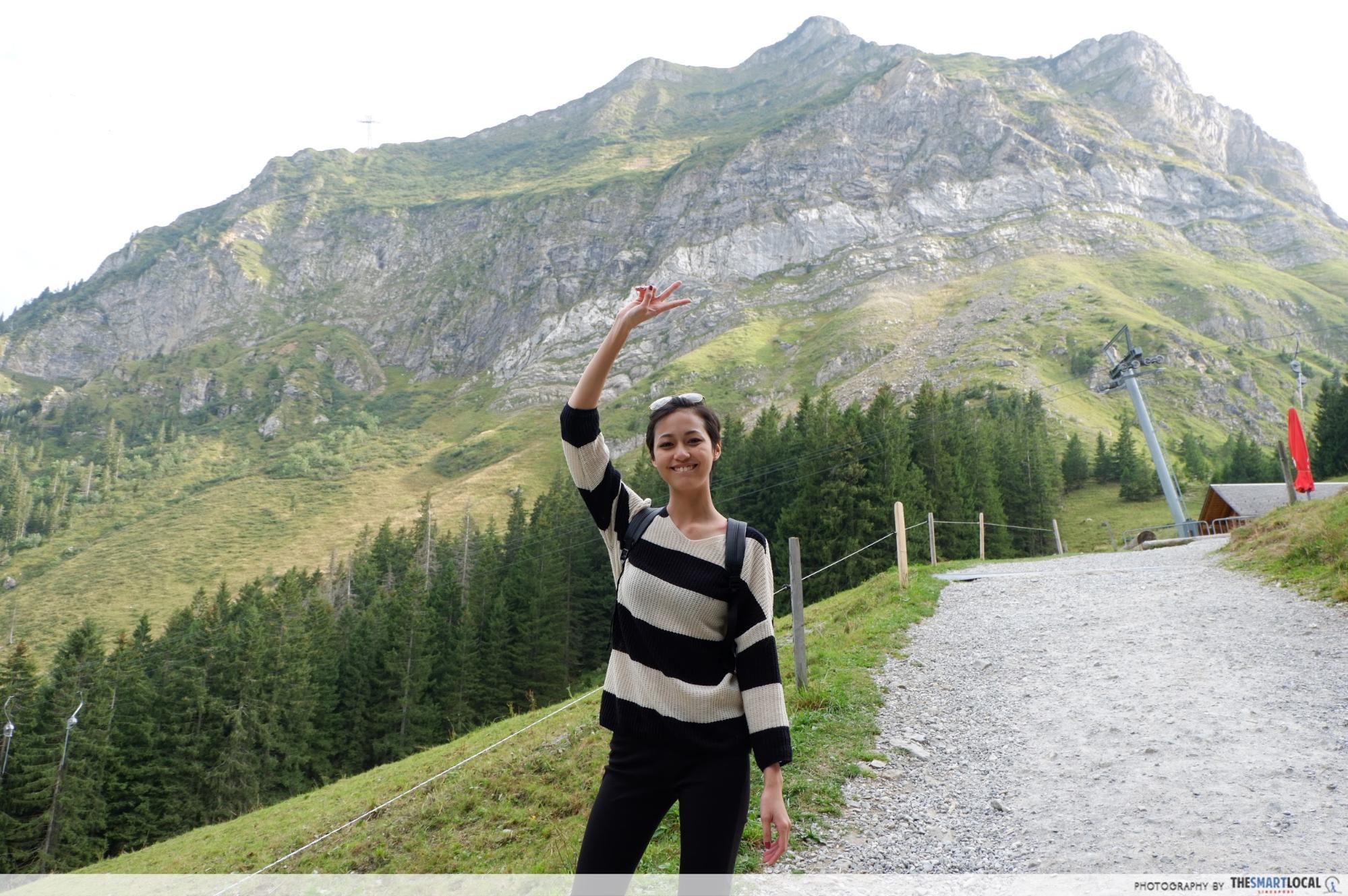 Girl on Mount Pilatus Switzerland