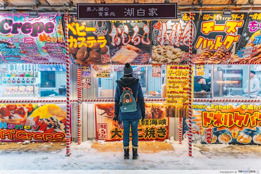 towada winter festival food carts