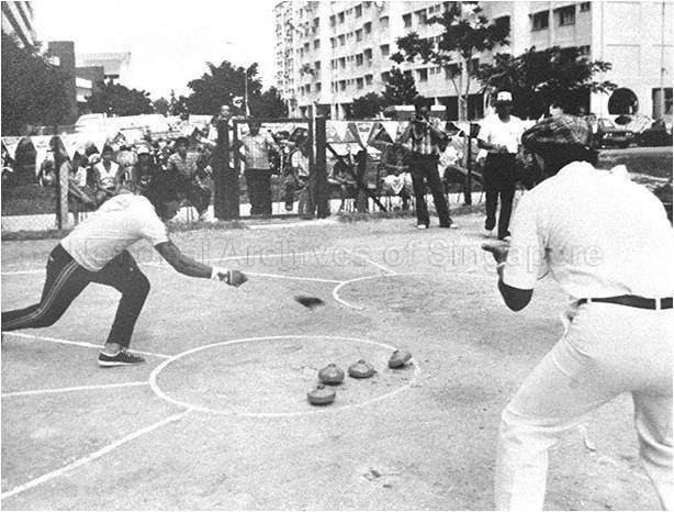 Traditional Singaporean games - Gasing