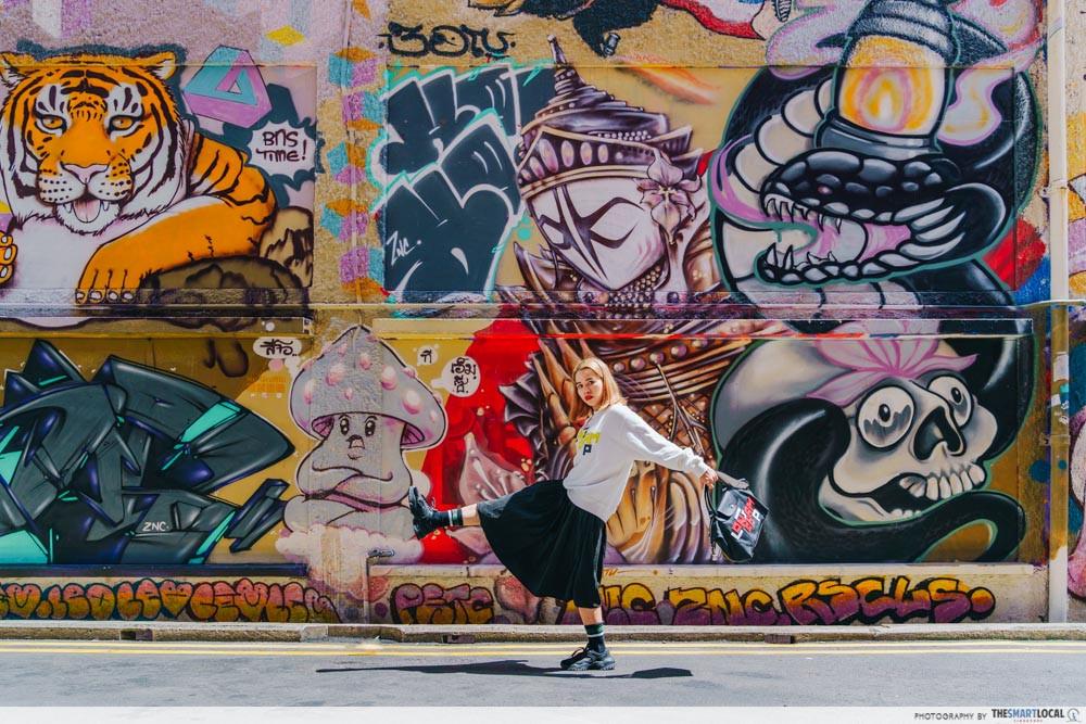 Graffiti wall at Queen Street