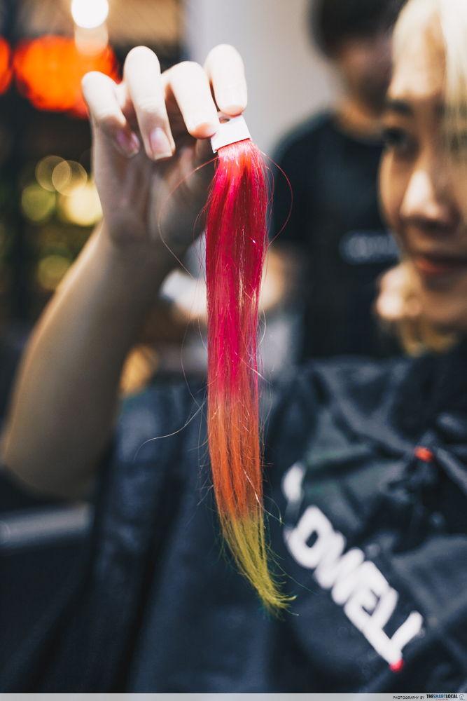 hair extensions rainbow singapore salon