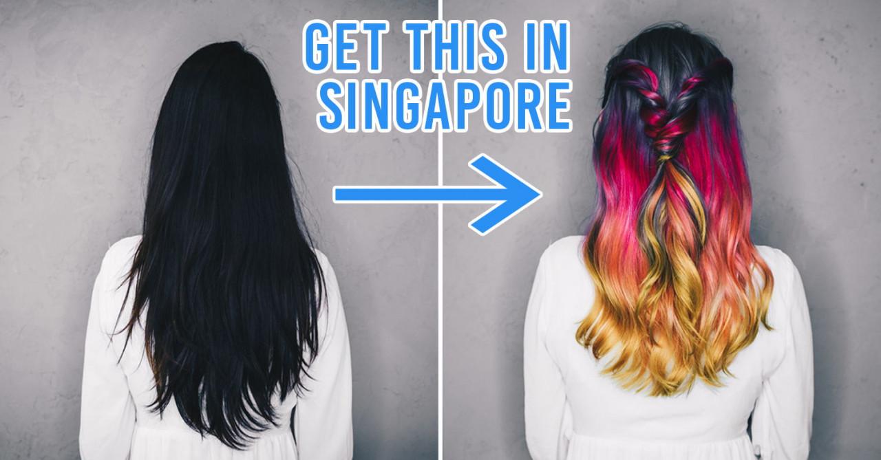 dye black hair rainbow