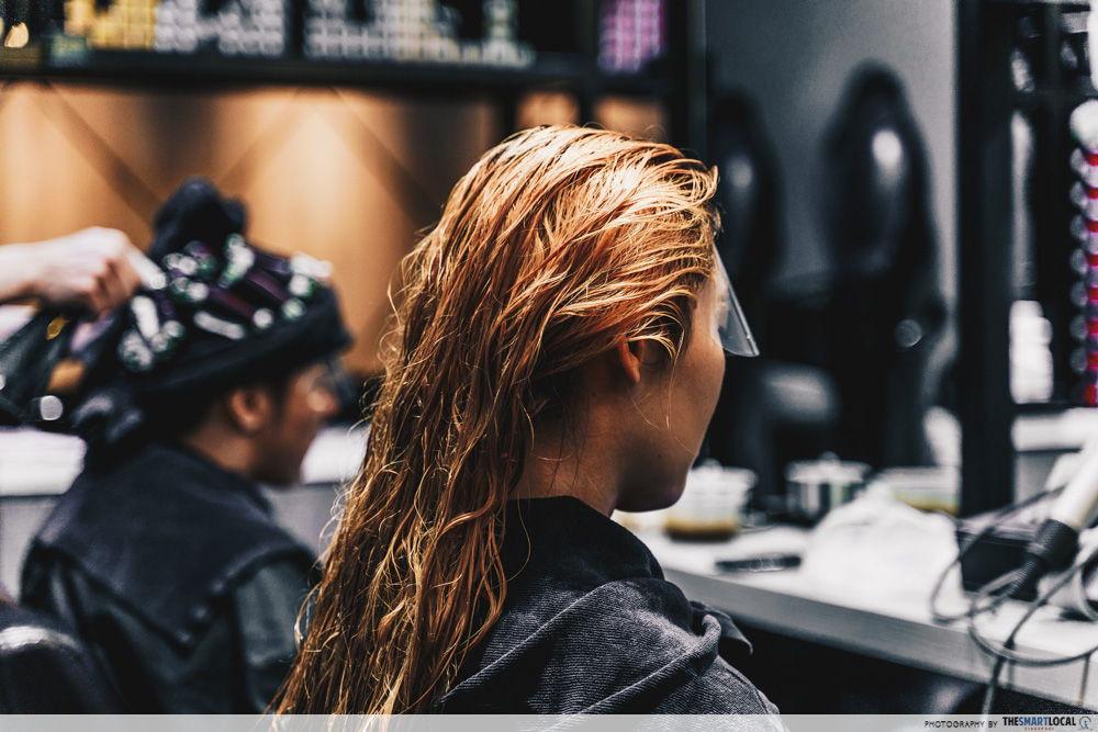 bleached hair salon singapore